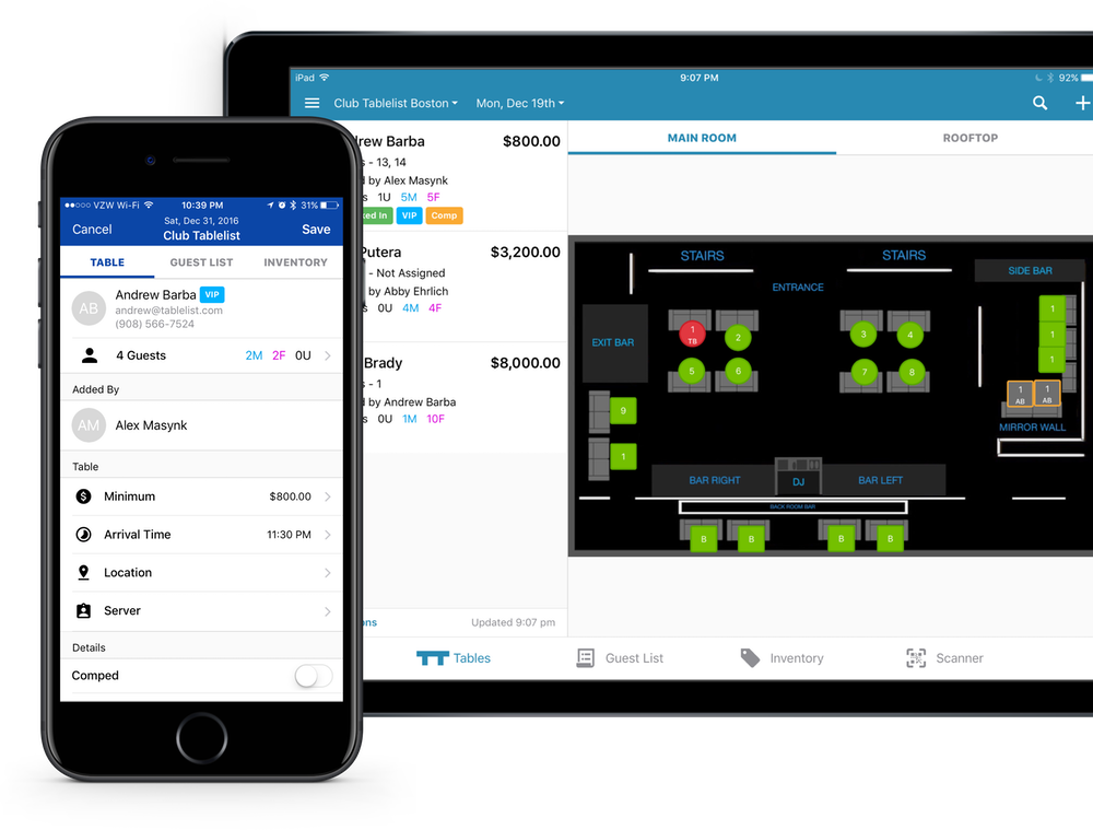 Desktop, Android, and iOS. Simple powerful venue management software.