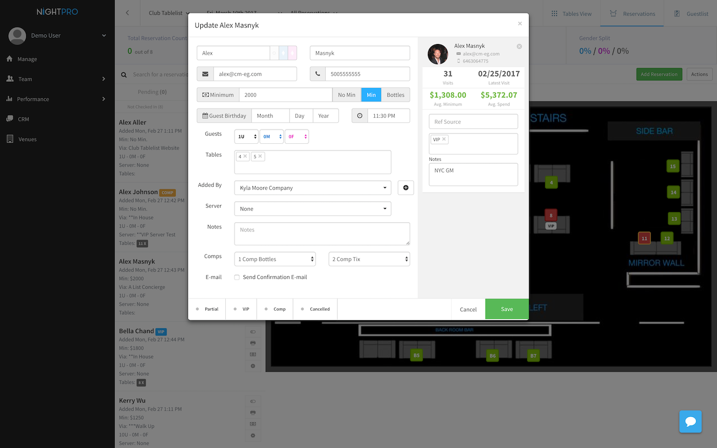 Create or update reservations and guests in NightPro